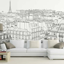 Load image into Gallery viewer, Parisian City Sketch Mural Wallpaper (SqM)