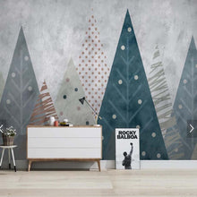 Load image into Gallery viewer, Geometric Forest Mural Wallpaper (SqM)
