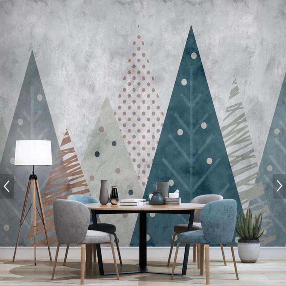 Geometric Forest Mural Wallpaper (SqM)