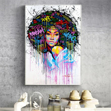 Load image into Gallery viewer, Girl Graffiti Canvas Print