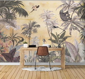 Jungle Sunset Mural Wallpaper (SqM)