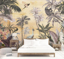 Load image into Gallery viewer, Jungle Sunset Mural Wallpaper (SqM)