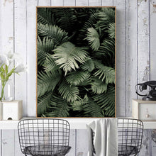 Load image into Gallery viewer, Scandinavian Green Leaves Canvas Print