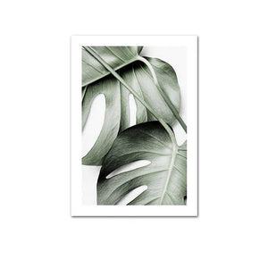 Monstera Green Leaf Canvas Print