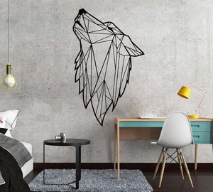Nordic Geometric Wolf Wall Decal