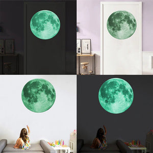 Fluorescent Moon Wall Decal