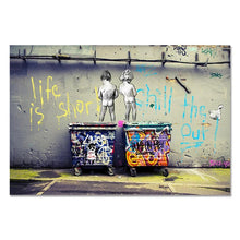 Load image into Gallery viewer, Life is Short Graffiti Canvas Print