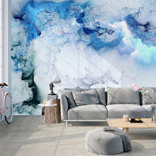 Load image into Gallery viewer, Abstract Blue Cloud Wall Mural (SqM)