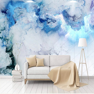 Abstract Blue Cloud Wall Mural (SqM)
