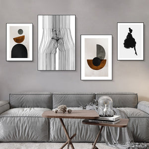 Golden Grey Shades Canvas Print