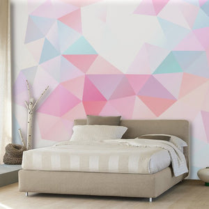 Colorful Geometric Fantasy Mural Wallpaper (SqM)