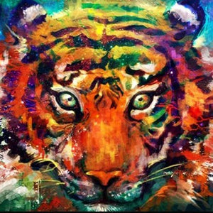 DIY Paint By Numbers - Bengal Tiger Painting Canvas