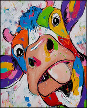 Load image into Gallery viewer, DIY Paint By Numbers - Colorful Cow Painting Canvas