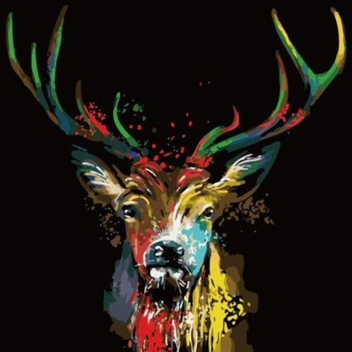 DIY Paint By Numbers - Deer Painting Canvas