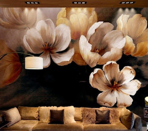 Delicate Spring Flowers Wall Mural (SqM)