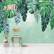 Load image into Gallery viewer, Falling Rainforest Leaves Mural Wallpaper (SqM)