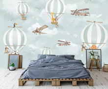Load image into Gallery viewer, Flying High Balloon Mural Wallpaper  (SqM)