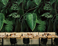 Load image into Gallery viewer, Large Dark Tropical Banana Leaves Wall Mural (SqM)