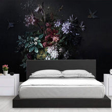 Load image into Gallery viewer, Large Moody Floral Dark Mural Wallpaper (SqM)