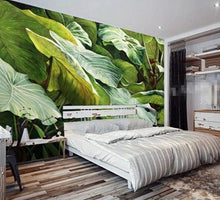 Load image into Gallery viewer, Morning Rainforest Giant Leaves Wall Mural (SqM)