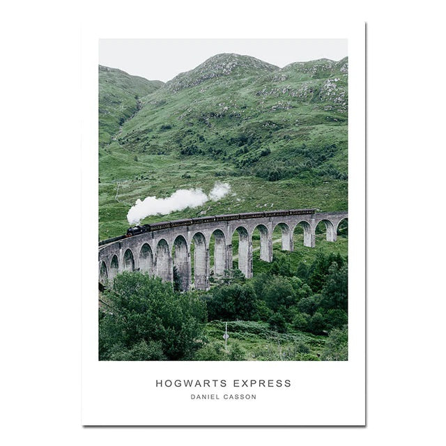 Scandinavian Hogwarts Express Canvas Print