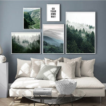 Load image into Gallery viewer, Scandinavian Forest Mists Scenery Canvas Print