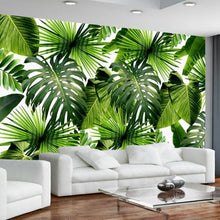 Load image into Gallery viewer, Rainforest Banana Leaves Wall Mural (SqM)