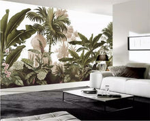 Load image into Gallery viewer, Retro Tropical Garden Mural Wallpaper (SqM)
