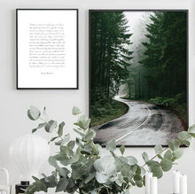 Load image into Gallery viewer, Scandinavian Forest Road Canvas Print