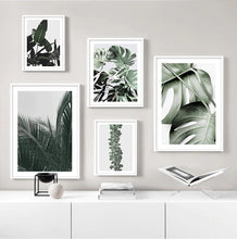 Load image into Gallery viewer, Monstera Green Leaf Canvas Print
