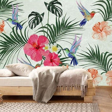 Load image into Gallery viewer, Tropical Birds Song Mural Wallpaper (SqM)