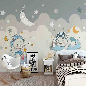 Little Bears Mural Wallpaper (SqM)