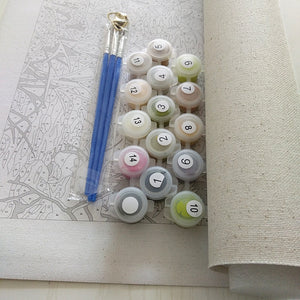 DIY Paint By Numbers - Autumn Harvest Painting Canvas