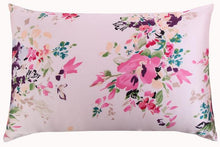 Load image into Gallery viewer, Rose Aquarelle Mulberry Silk Pillowcase