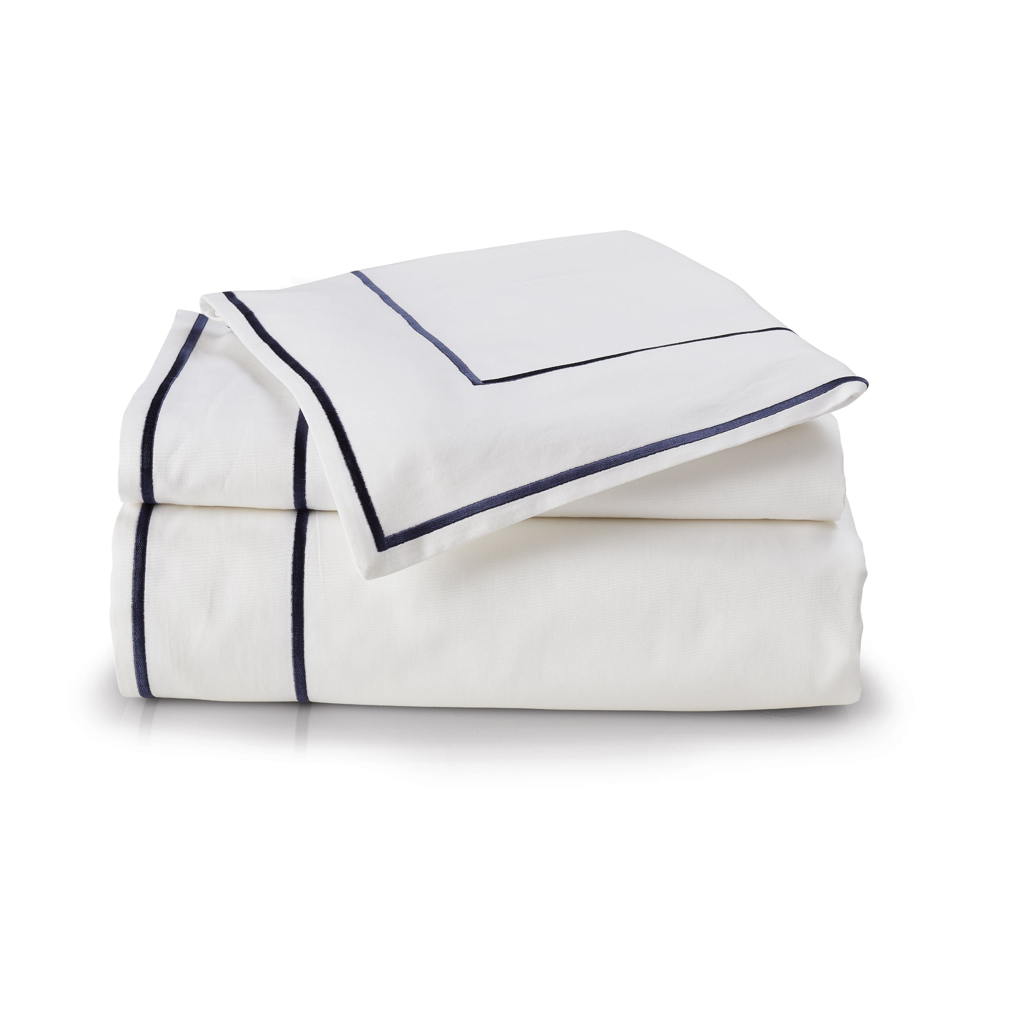 Navy Embroidered Duvet Set