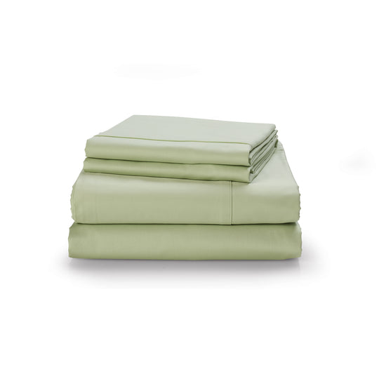 Sage Hemmed Sheet Set