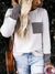 Casual Plain Long Sleeve Crew Neck Pockets Shirt