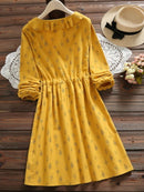 Ruffled Collar Sweet Long Sleeve Dress