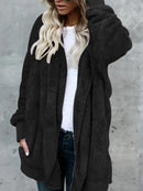 Casual Pure Colour Loose Cotton Overcoat & Down Jacket