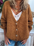 Casual cotton blends cardigan