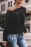 Lace Patchwork Cozy Sweater For Women