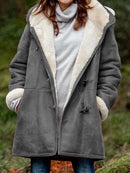 Cotton-Blend Hoodie Casual Outerwear
