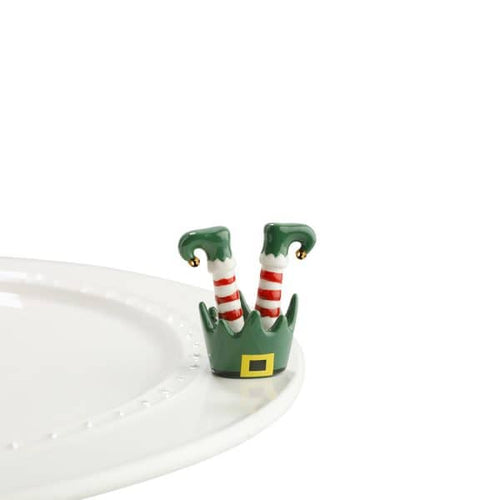 Nora Fleming Mini - Elf Feet / Jingle Toes