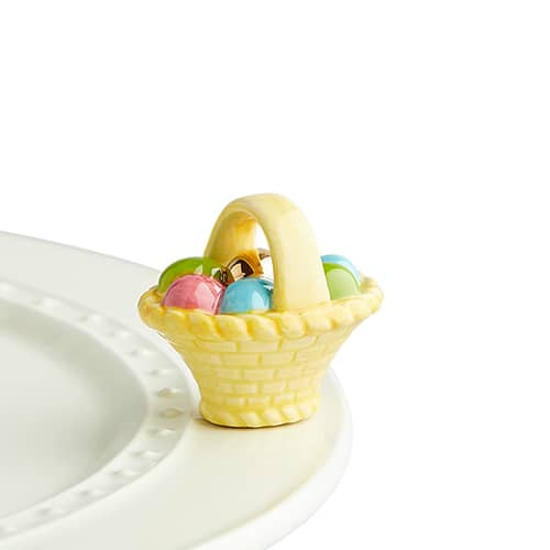 Nora Fleming Mini - Easter basket with eggs