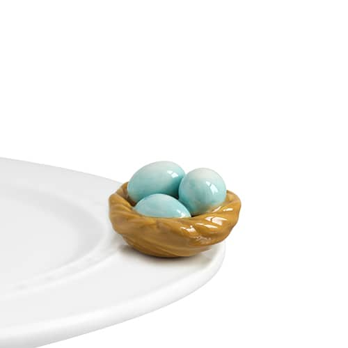 Nora Fleming Mini - Basket with Robin Eggs