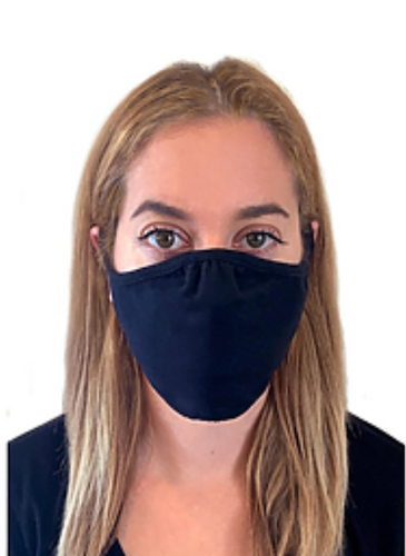 Basic T-Shirt Mask -Contoured fit -Black -