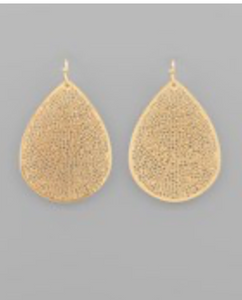 Lightweight Filigree Tear Drop Earrings - Gold