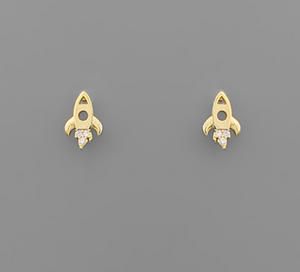 Tiny ROCKETS Earrings - GOLD