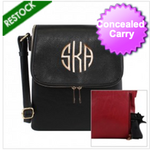 Load image into Gallery viewer, Black Concealed Carry Crossbody