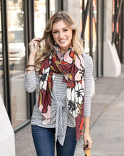 Load image into Gallery viewer, Fall Floral Scarf by Grace & Lace